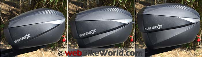 SHAD SH58X Expansion Sizes