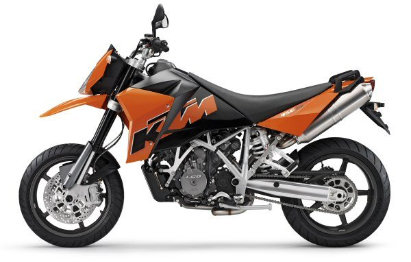 KTM 950 Supermoto Left View