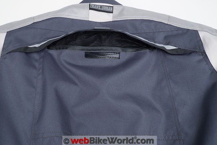 Pilot Trans-Urban Jacket V2 Rear Vent Open