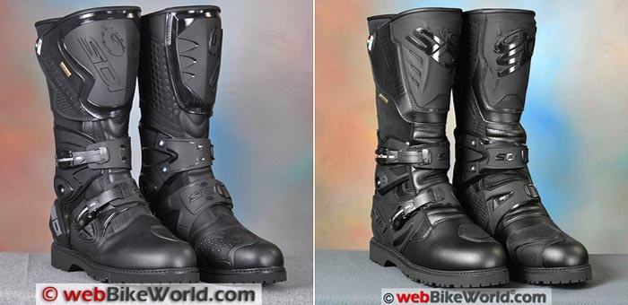 Sidi Adventure vs. Adventure 2 Gore-Tex Boots