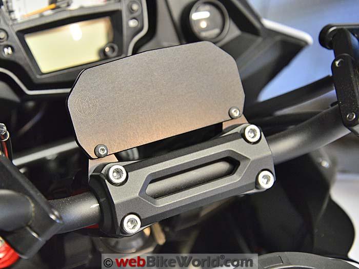 Kawasaki Versys Handlebar Risers Installed