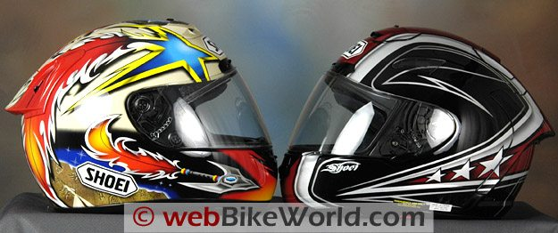 Shoei X-11 and X-12 comparison