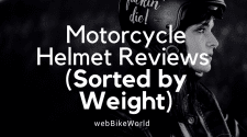 Motorcycle Helmets - Sorted by Weight