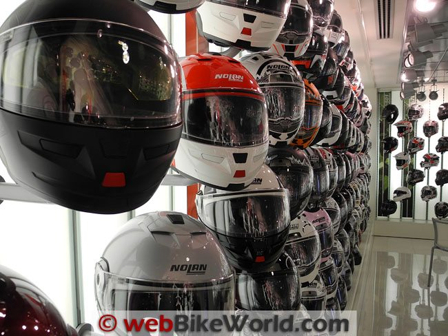 Nolan Helmet Showroom