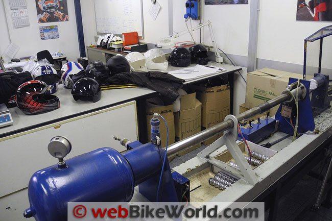 Nolan Helmets Quality Control Lab