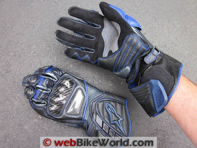 Resized Motorcycle Gloves