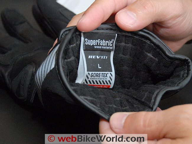 Rev'it Bastion GTX Gloves - Liner Material