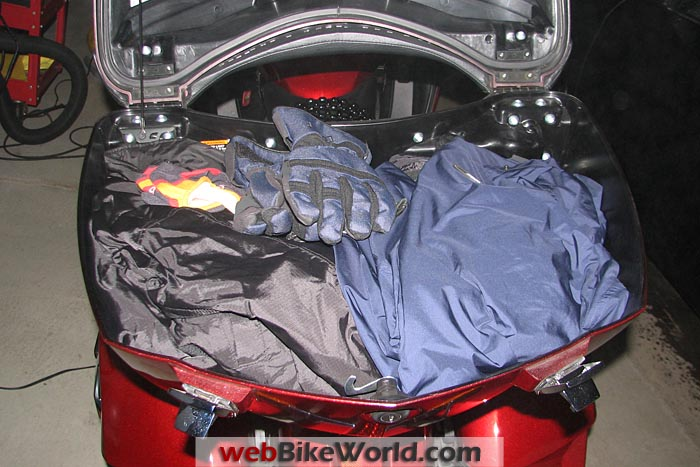 Riding Outfit Packed in Top Box