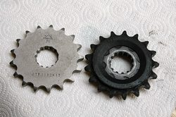 JT replacement front sprocket vs. original Triumph front sprocket