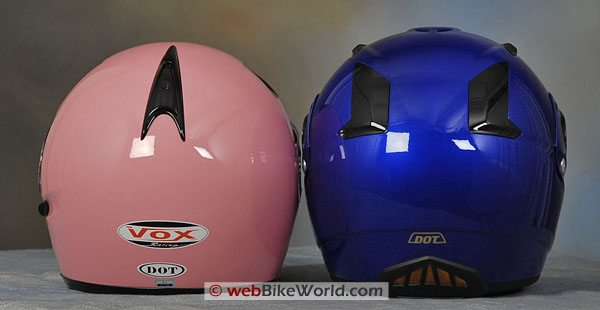 Vox Helmet and Zox Nevado - Rear View