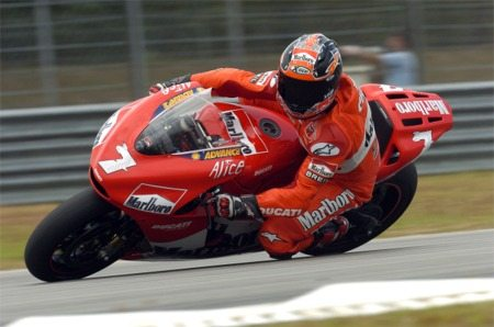 Carlos Checa on the Ducati GP5