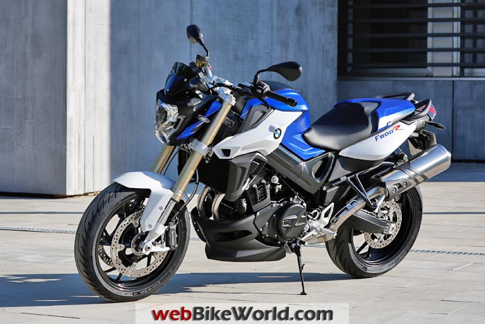 2015 BMW F 800 R Blue Left Front View