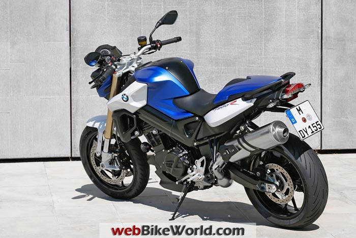 2015 BMW F 800 R Left Rear View