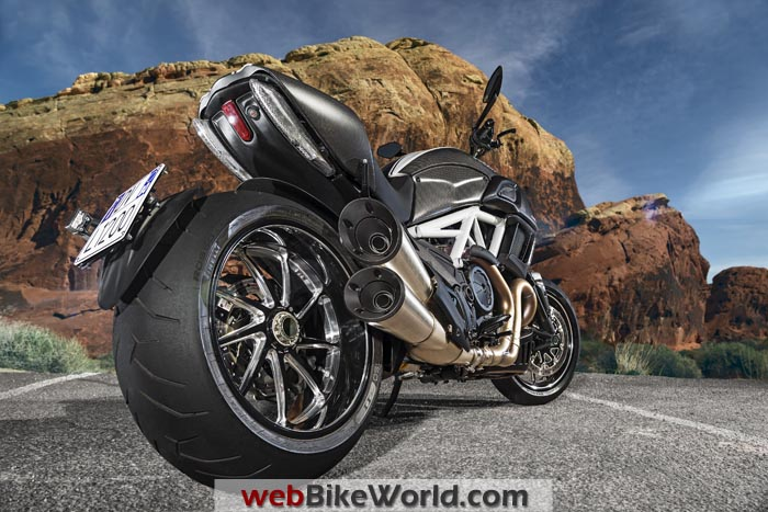2015 Ducati Diavel Rear View