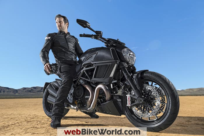 2015 Ducati Diavel With Rider