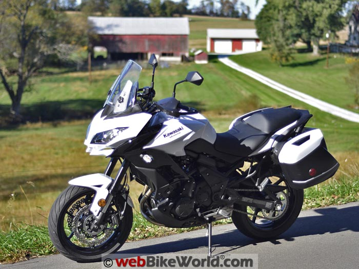 2015 Kawasaki Versys 650 LT Review Left Side