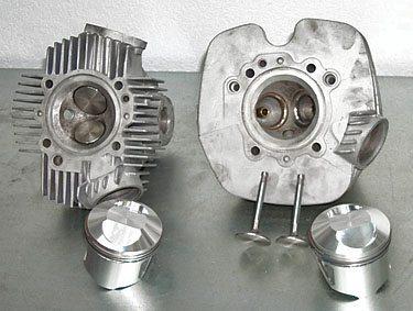 Ducati 750 GT Heads