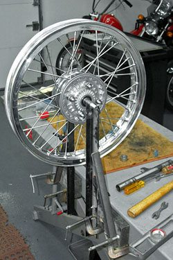 Ducati 750 GT Wheel and New Spokes