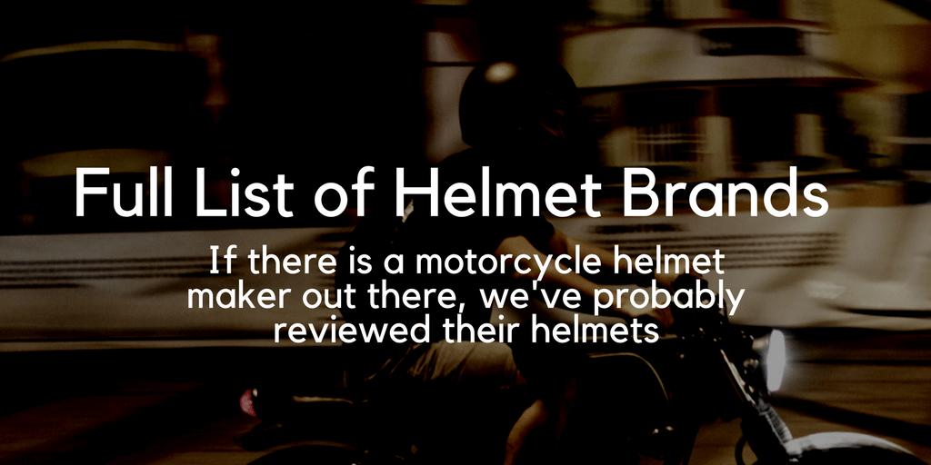 Full List of Motorcycle Helmet Brands