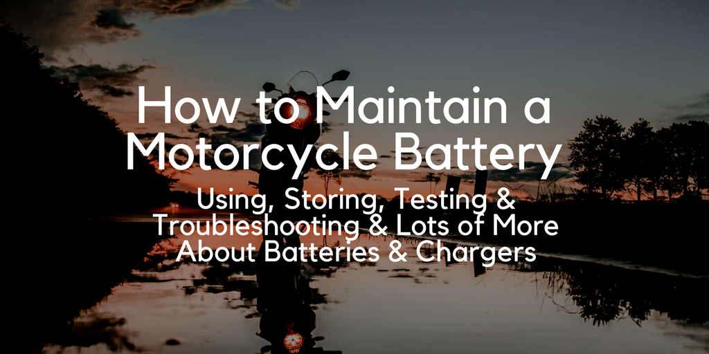 How to Maintain a Motorcycle Battery