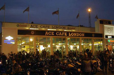 Evening at the Ace Cafe