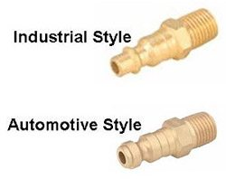 "Automotive Style 1/4"" Compressed Air Line Connectors"