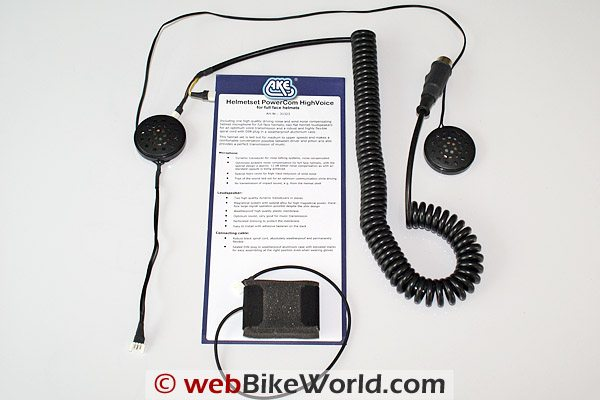AKE PowerCom Motorcycle Communications System - HighVoice Headset Speakers