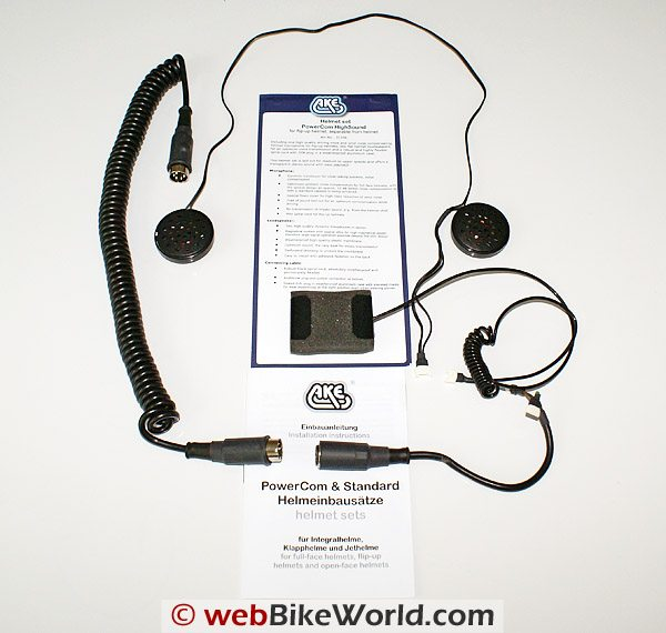 AKE PowerCom Motorcycle Communications System - HighSound Headset Speakers