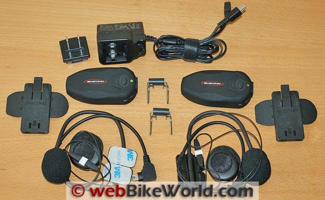 BikeComm Hola Intercom Kit Contents