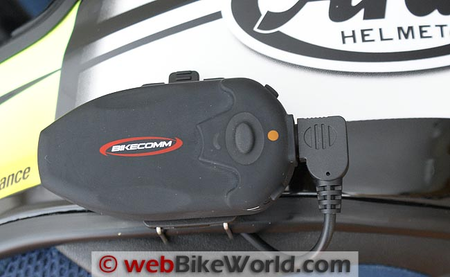 BikeComm Hola Intercom on Helmet