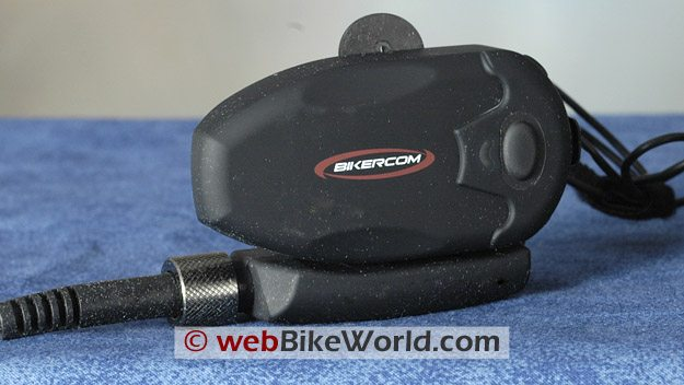 Close-up of BikerCom intercom module.