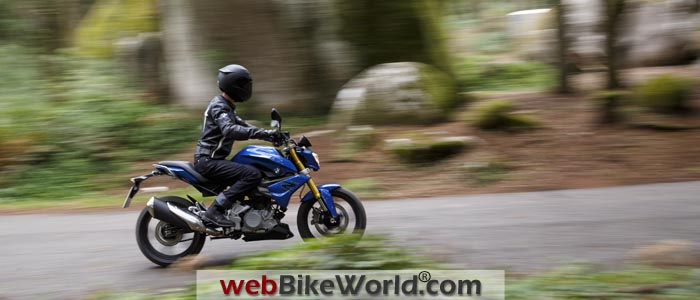BMW G310R Blue On the Road