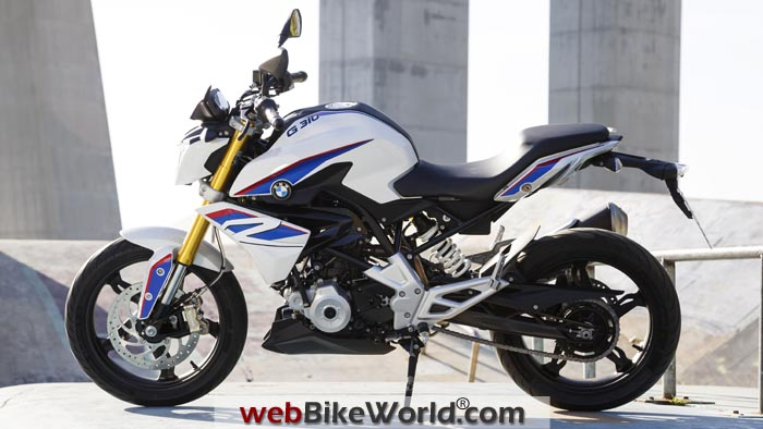BMW G310R White Left Side