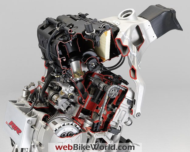BMW S1000RR - Engine and Valve Train Cutaway