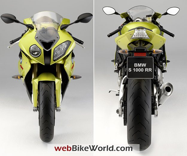 BMW S1000RR - Front and Rear Views