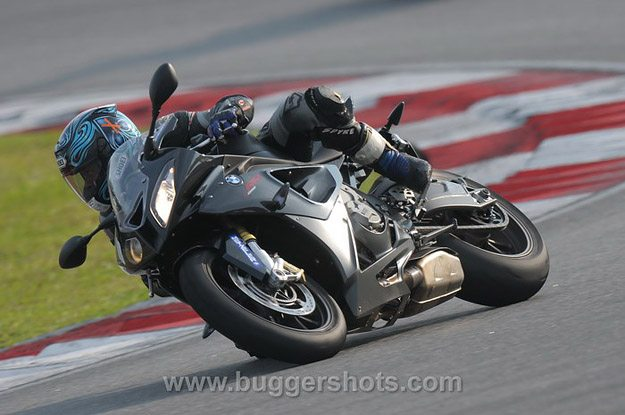 BMW S 1000 RR at Full Lean