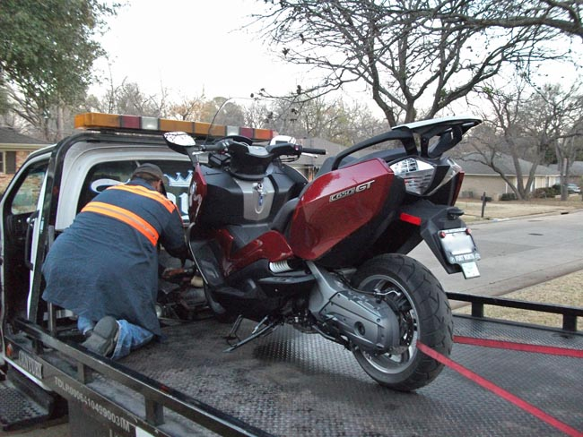 BMW Scooter on Tow Truck