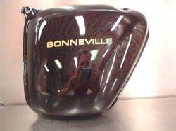 Bonneville tank, side view