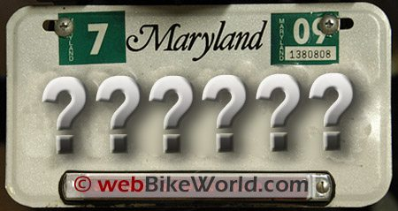 Motorcycle License Plate Dimensions - webBikeWorld