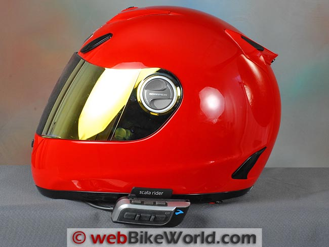 Cardo Scala Rider G9 on Helmet