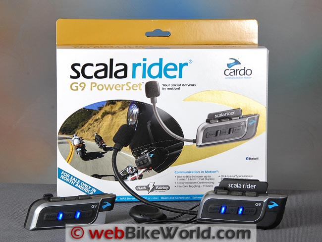 Cardo Scala Rider G9 Powerset Kit
