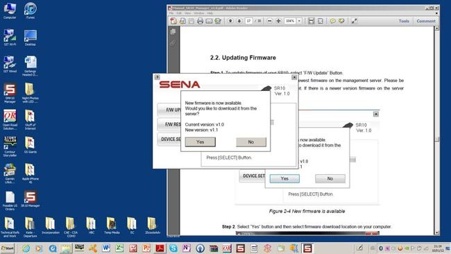 Connecting to the Sena Server for Firmware Updates