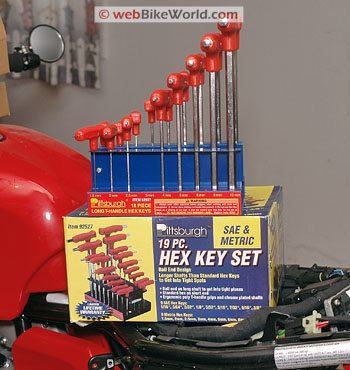 Harbor Freight Allen Wrench Hex Wrench Set Review - webBikeWorld