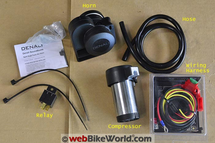 Denali Soundbomb Split Horn Kit and Wiring Harness