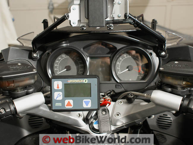 Dispatch 1 System on BMW Handlebars