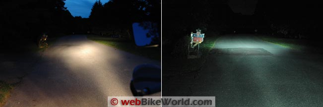 DR650 High Beam Comparison