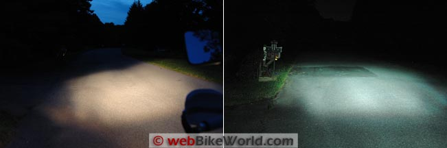 DR650 Low Beam Comparison