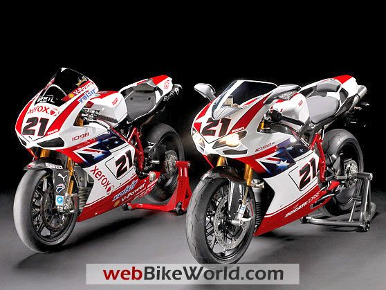 Ducati 1098 Superbike (left) and Ducati 1198 S