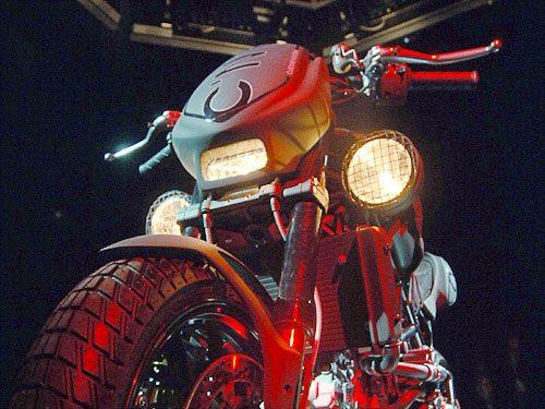 Ducati Black Dogo Monster, Front View