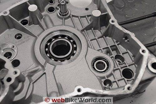 Inside one half of a Ducati engine case.